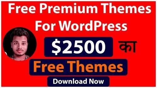 Download WordPress Premium themes for free in 2020 | Free Responsive WordPress Themes