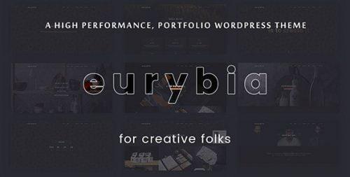 EURYBIA WORDPRESS THEME – CREATIVE PORTFOLIO WP THEME 1