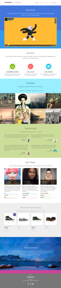 Corporate Wordpress Theme - RESPONSIVE  Mythemeshop WP Themes 1