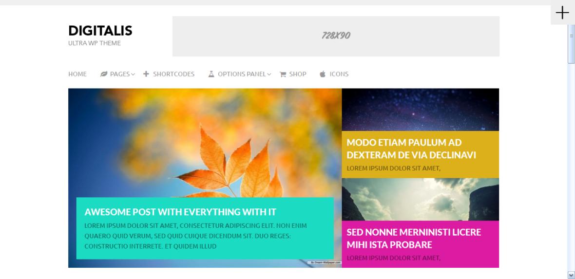Digitalis Blog Theme - WORDPRESS THEME 1