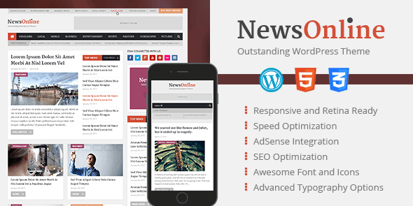 Newsonline Theme - Beautiful & Professional WordPress Magazine Theme 1
