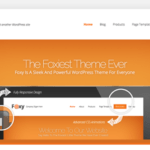 Foxy WordPress Theme – Creative WP Themes