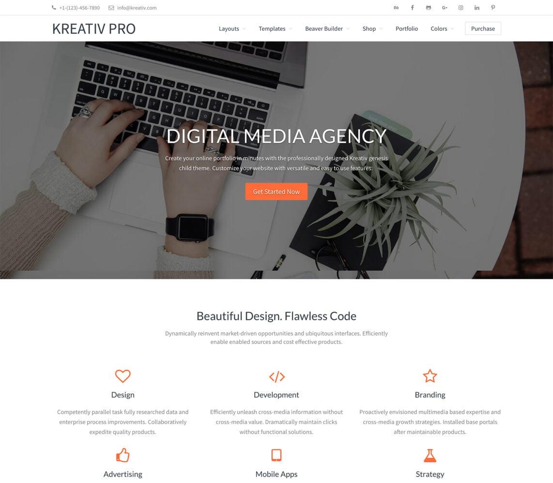 Kreativ Pro Theme - Creative WordPress Themes 1
